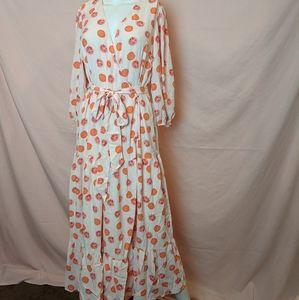 Glamorous Grapefruit Print Maxi Dress